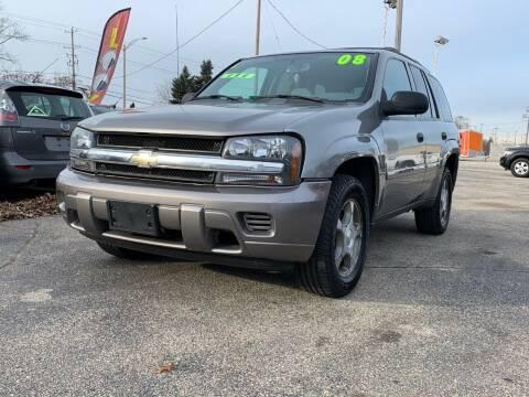 2008 Chevrolet TrailBlazer for sale at HIGHLINE AUTO LLC in Kenosha WI