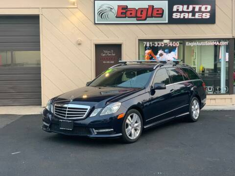 2013 Mercedes-Benz E-Class for sale at Eagle Auto Sales LLC in Holbrook MA