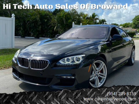2014 BMW 6 Series for sale at Hi Tech Auto Sales Of Broward in Hollywood FL