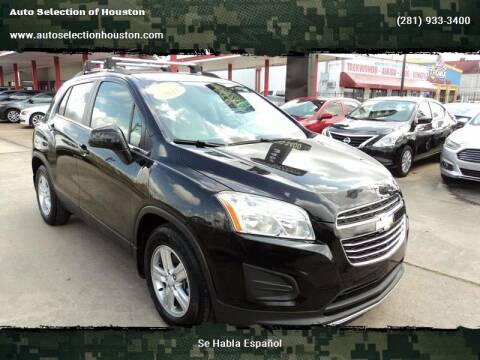 2015 Chevrolet Trax for sale at Auto Selection of Houston in Houston TX