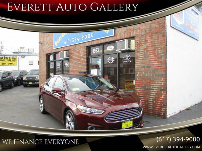 2015 Ford Fusion for sale at Everett Auto Gallery in Everett MA