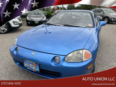 1993 Honda Civic del Sol for sale at Auto Union LLC in Virginia Beach VA