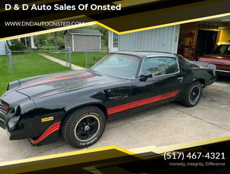 1981 Chevrolet Camaro for sale at D & D Auto Sales Of Onsted in Onsted MI
