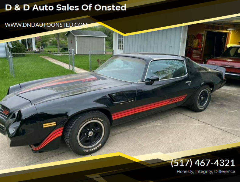 1981 Chevrolet Camaro for sale at D & D Auto Sales Of Onsted in Onsted   Brooklyn MI