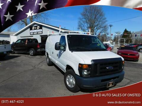 2012 Ford E-Series Cargo for sale at D & D Auto Sales Of Onsted in Onsted   Brooklyn MI