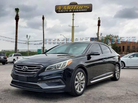 2016 Hyundai Sonata for sale at A MOTORS SALES AND FINANCE - 6226 San Pedro Lot in San Antonio TX