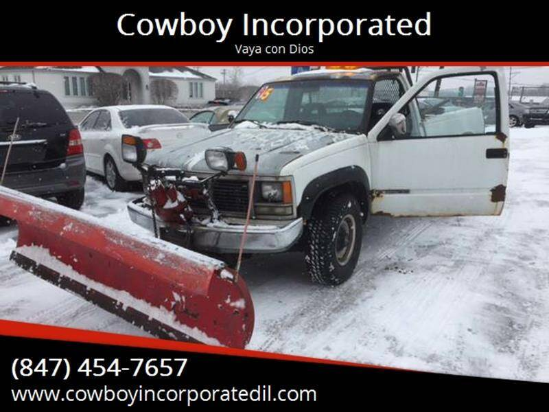 1992 GMC Sierra 2500 for sale at Cowboy Incorporated in Waukegan IL