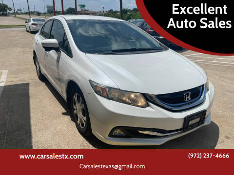 2015 Honda Civic for sale at Excellent Auto Sales in Grand Prairie TX