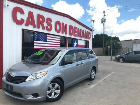 2016 Toyota Sienna for sale at Cars On Demand 2 in Pasadena TX