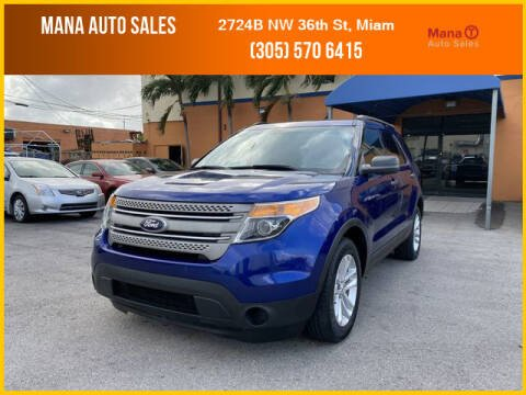 2013 Ford Explorer for sale at MANA AUTO SALES in Miami FL