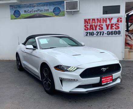 2020 Ford Mustang for sale at Manny G Motors in San Antonio TX