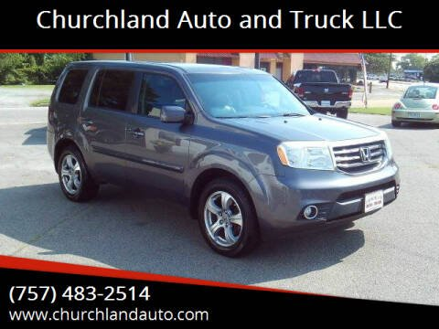 2014 Honda Pilot for sale at Churchland Auto and Truck LLC in Portsmouth VA