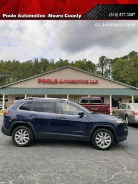 2014 Jeep Cherokee for sale at Poole Automotive -Moore County in Aberdeen NC