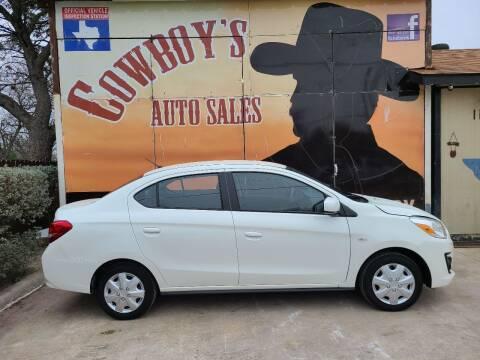 2019 Mitsubishi Mirage G4 for sale at Cowboy's Auto Sales in San Antonio TX