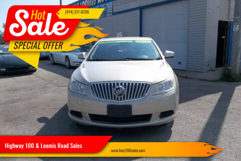 2011 Buick LaCrosse for sale at Highway 100 & Loomis Road Sales in Franklin WI
