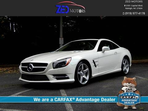 2014 Mercedes-Benz SL-Class for sale at Zed Motors in Raleigh NC