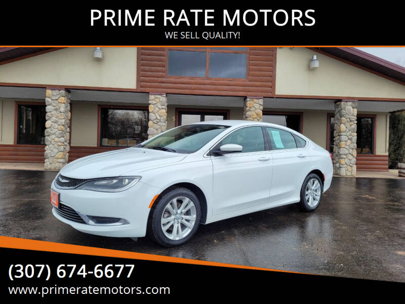 2015 Chrysler 200 for sale at PRIME RATE MOTORS in Sheridan WY