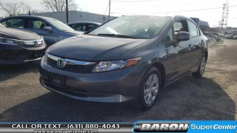 2012 Honda Civic for sale at Baron Super Center in Patchogue NY