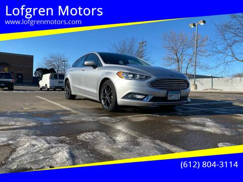 2018 Ford Fusion for sale at Lofgren Motors in Wayzata MN