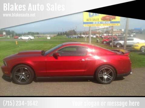 2010 Ford Mustang for sale at Blakes Auto Sales in Rice Lake WI