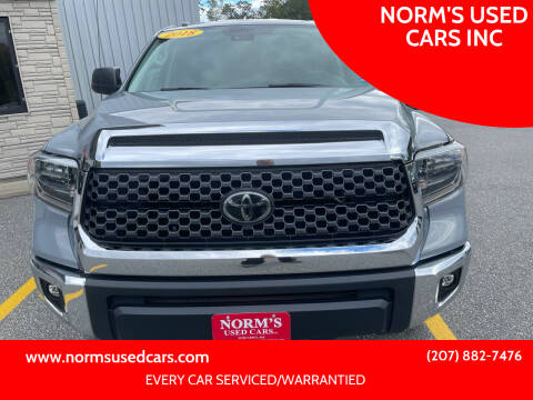 2018 Toyota Tundra for sale at NORM'S USED CARS INC in Wiscasset ME