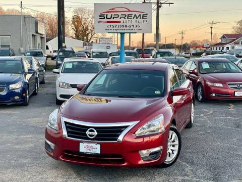 2015 Nissan Altima for sale at Supreme Auto Sales in Chesapeake VA