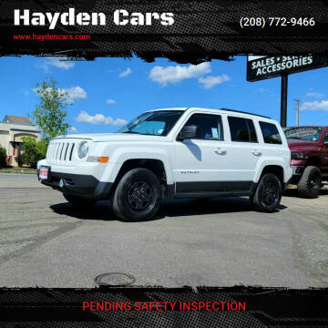 2016 Jeep Patriot for sale at Hayden Cars in Coeur D Alene ID