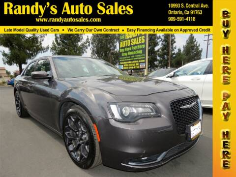 2019 Chrysler 300 for sale at Randy's Auto Sales in Ontario CA