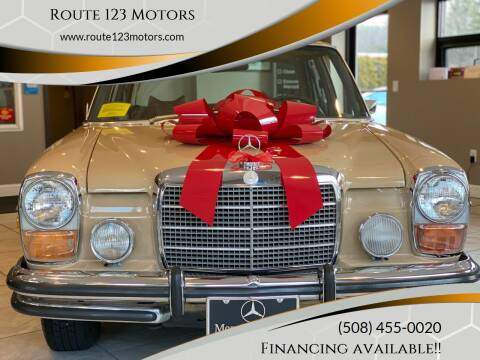 1973 Mercedes-Benz 280-Class for sale at Route 123 Motors in Norton MA