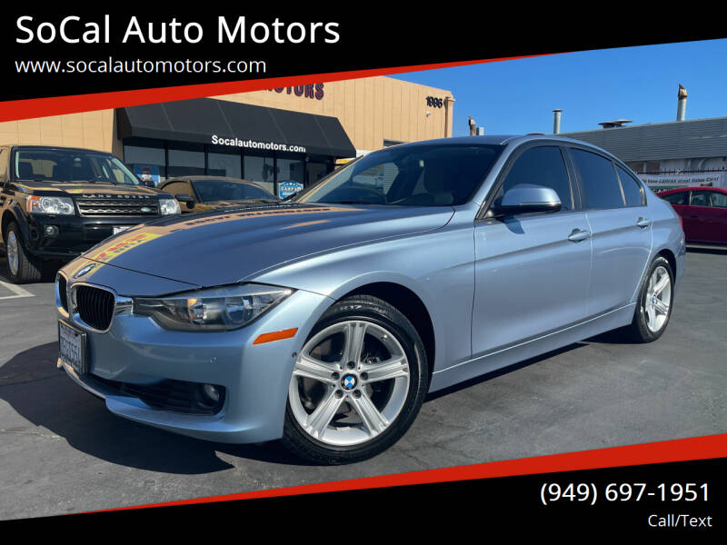 2014 BMW 3 Series for sale at SoCal Auto Motors in Costa Mesa CA