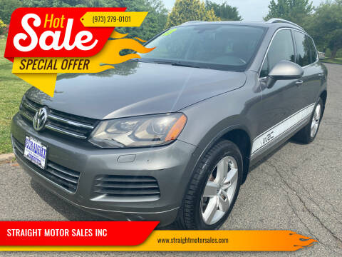 2013 Volkswagen Touareg for sale at STRAIGHT MOTOR SALES INC in Paterson NJ