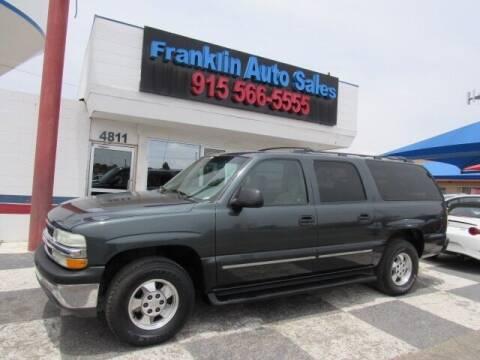 2003 Chevrolet Suburban for sale at Franklin Auto Sales in El Paso TX