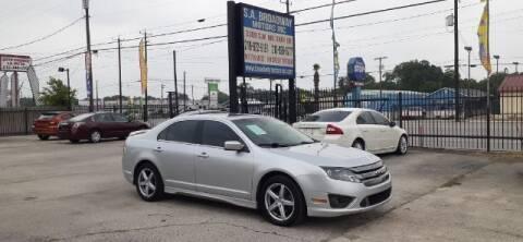 2012 Ford Fusion for sale at S.A. BROADWAY MOTORS INC in San Antonio TX