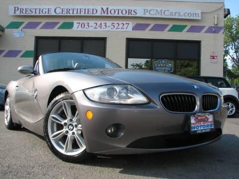 2005 BMW Z4 for sale at Prestige Certified Motors in Falls Church VA