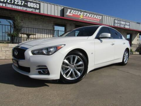 2015 Infiniti Q50 for sale at Lightning Motorsports in Grand Prairie TX