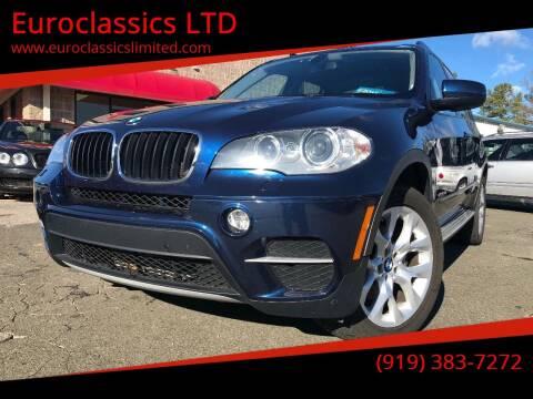 2012 BMW X5 for sale at Euroclassics LTD in Durham NC