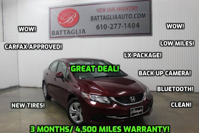 2013 Honda Civic for sale at Battaglia Auto Sales in Plymouth Meeting PA