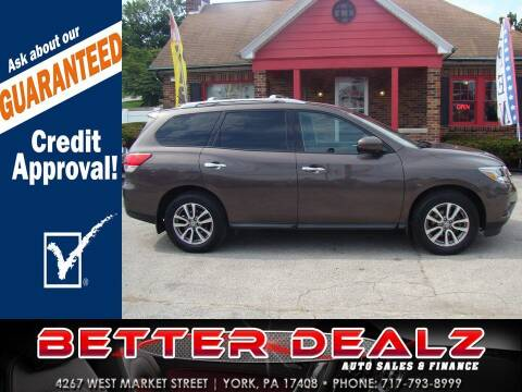 2016 Nissan Pathfinder for sale at Better Dealz Auto Sales & Finance in York PA