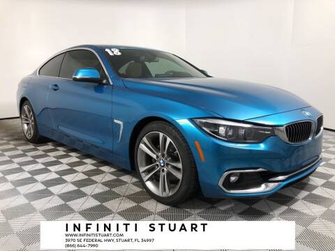 2018 BMW 4 Series for sale at Infiniti Stuart in Stuart FL