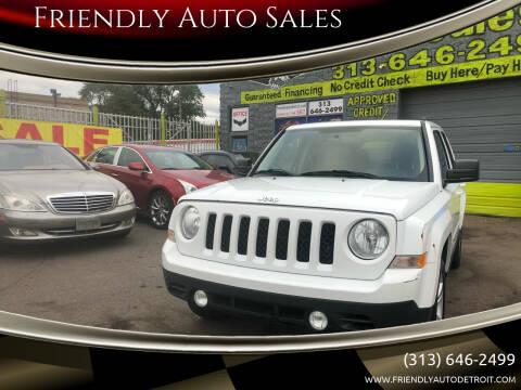 2015 Jeep Patriot for sale at Friendly Auto Sales in Detroit MI