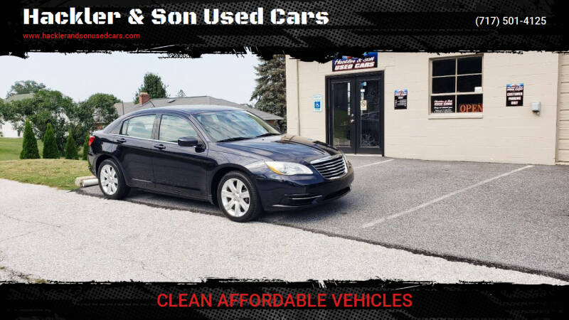 2012 Chrysler 200 for sale at Hackler & Son Used Cars in Red Lion PA