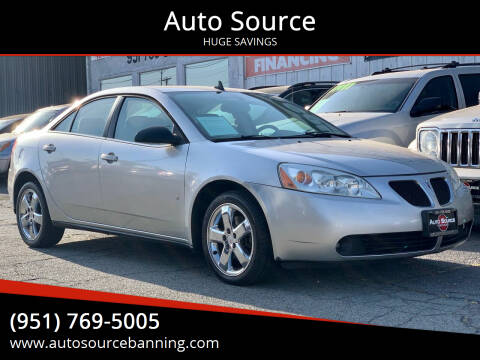 2008 Pontiac G6 for sale at Auto Source in Banning CA
