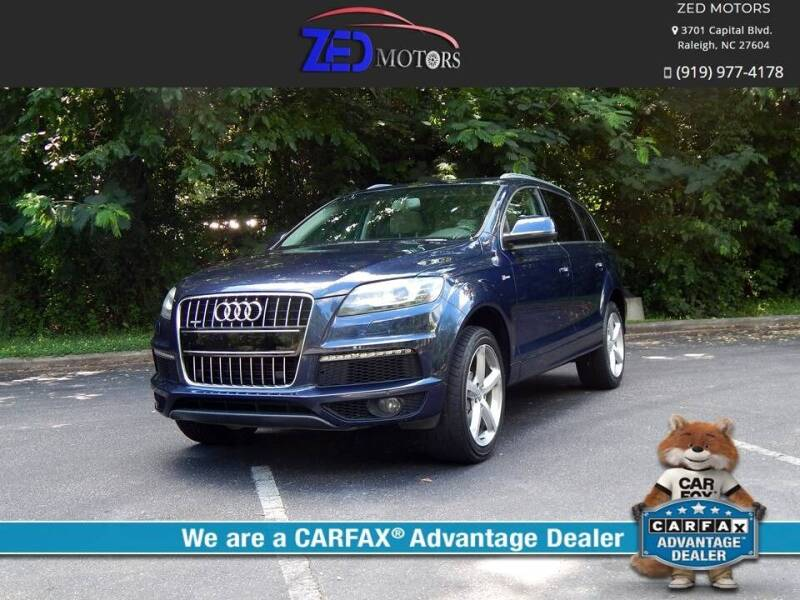 2013 Audi Q7 for sale at Zed Motors in Raleigh NC