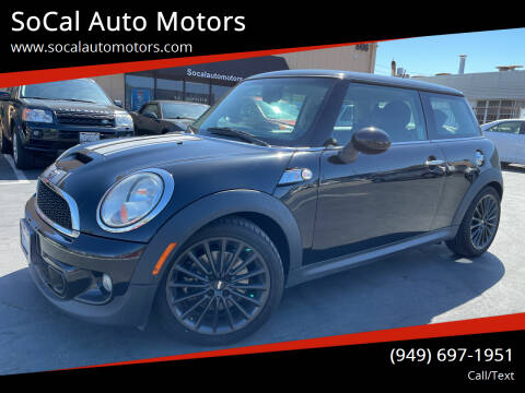 2012 MINI Cooper Hardtop for sale at SoCal Auto Motors in Costa Mesa CA