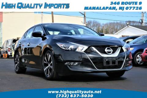 2017 Nissan Maxima for sale at High Quality Imports in Manalapan NJ