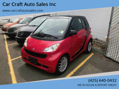2011 Smart fortwo for sale at Car Craft Auto Sales Inc in Lynnwood WA