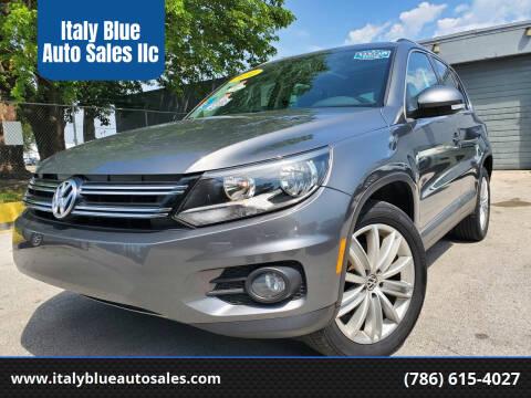 2014 Volkswagen Tiguan for sale at Italy Blue Auto Sales llc in Miami FL