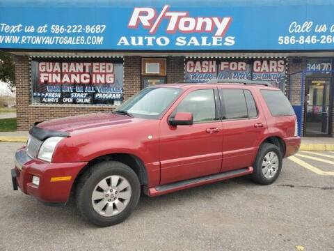 2006 Mercury Mountaineer for sale at R Tony Auto Sales in Clinton Township MI