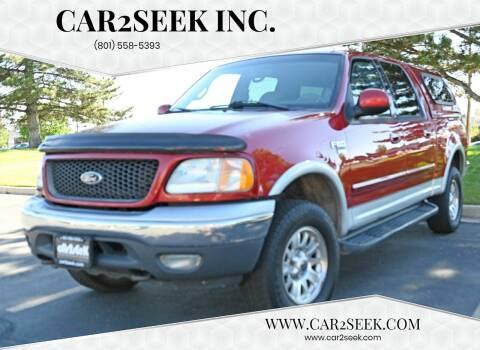 2001 Ford F-150 for sale at CAR2SEEK Inc. in Salt Lake City UT