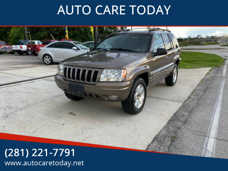 2001 Jeep Grand Cherokee for sale at AUTO CARE TODAY in Spring TX